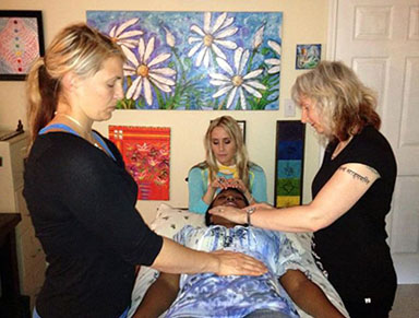 Reiki students in Atlanta