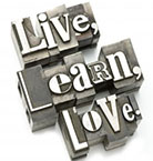 live, learn, love graphic
